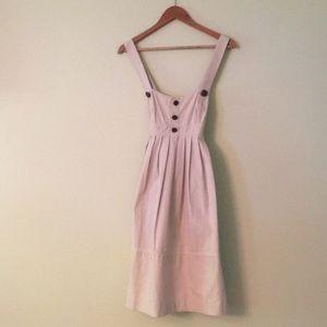 Shoshanna Searsucker Jumper Dress